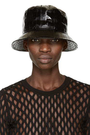 Alexander Wang - Black Eel Bucket Hat