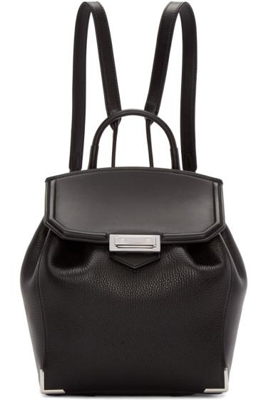 Alexander Wang - Black & Rhodium Mini Prisma Backpack