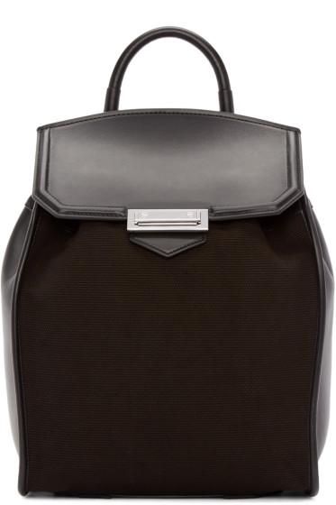 Alexander Wang - Black Canvas & Leather Prisma Backpack