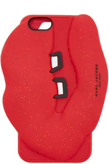 Marc Jacobs - Red Silicone Lips iPhone 6/6S Case