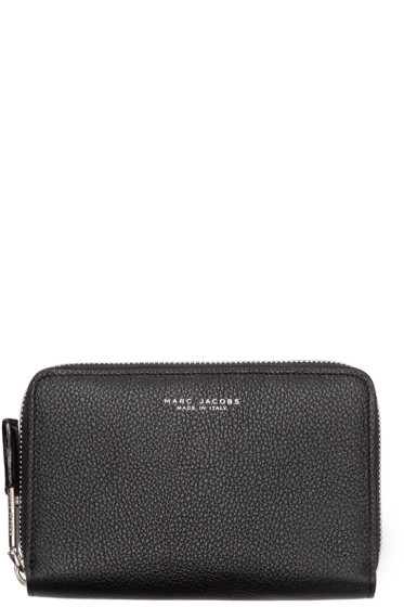 Marc Jacobs - Black Leather Compact Incognito Wallet