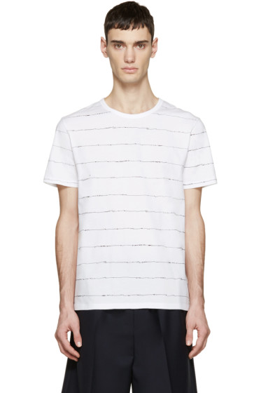 T by Alexander Wang - White Scribble T-Shirt