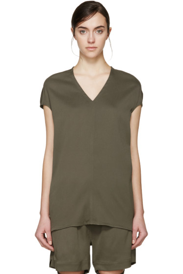 Rick Owens - Green Floating Blouse