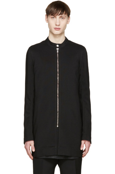 Rick Owens - Black Wool Coat