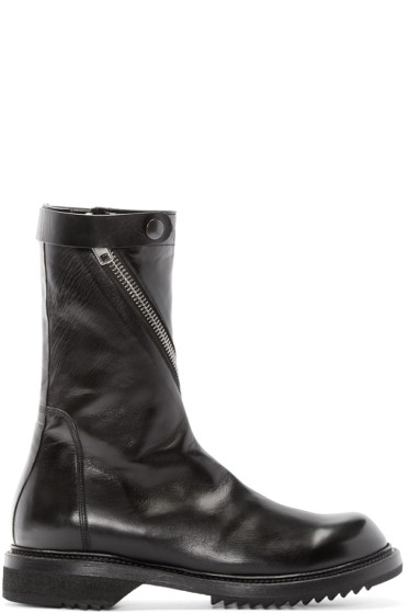 Rick Owens - Black Limo Creeper Boots