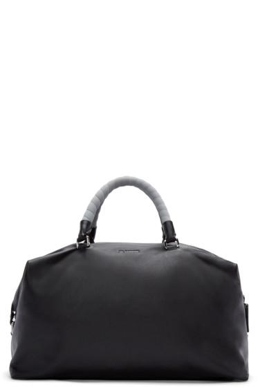 Jil Sander - Black Leather Duffle Bag