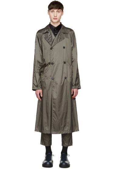 Jil Sander - Grey Nylon Trench Coat