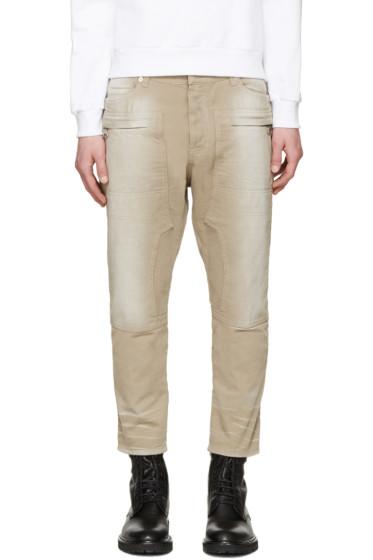 Balmain - Tan Cropped Jeans
