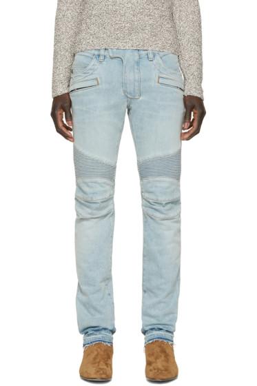 Balmain - Blue Biker Jeans