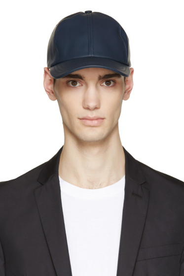 A.P.C. - Navy Coated Canvas Cap