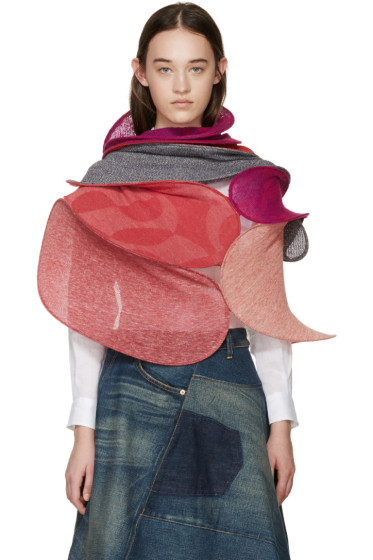 Junya Watanabe - Multicolor Knit Structural Scarf