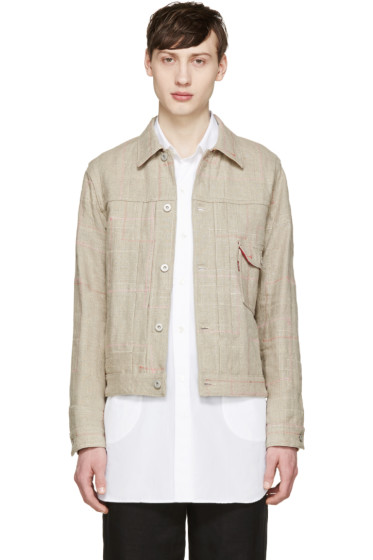 Junya Watanabe - Beige Reversible Canvas Levi's Edition Jacket