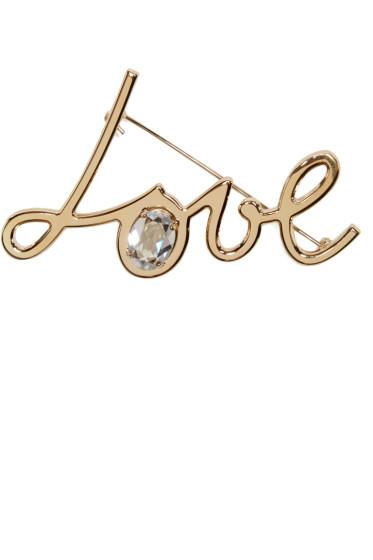Lanvin - Gold Love Brooch