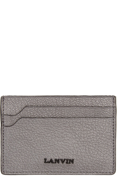 Lanvin - Grey Grained Leather Card Holder