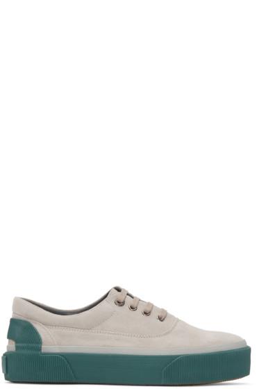Lanvin - Grey Suede Sneakers