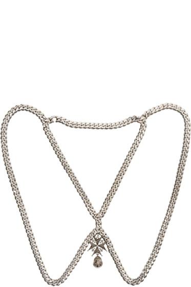 Alexander McQueen - Silver Cross & Dove Harness Necklace