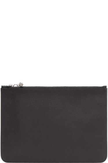 Alexander McQueen - Black Leather Zip Pouch