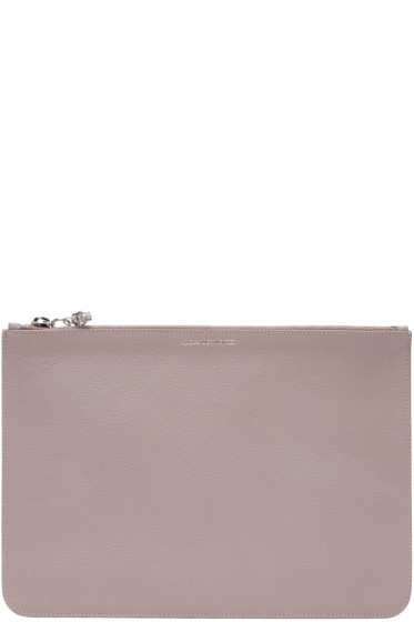 Alexander McQueen - Pink Leather Zip Pouch