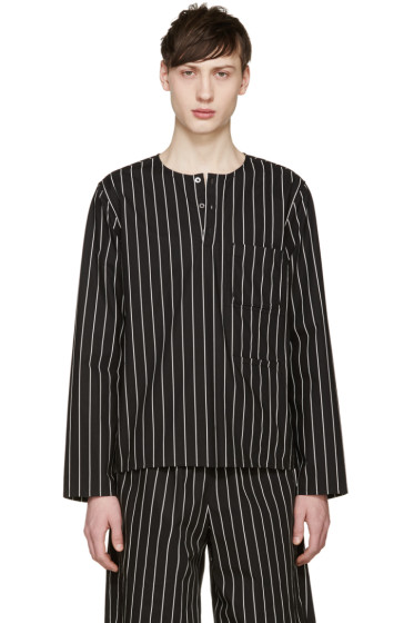Opening Ceremony - Black Pinstriped Tunic