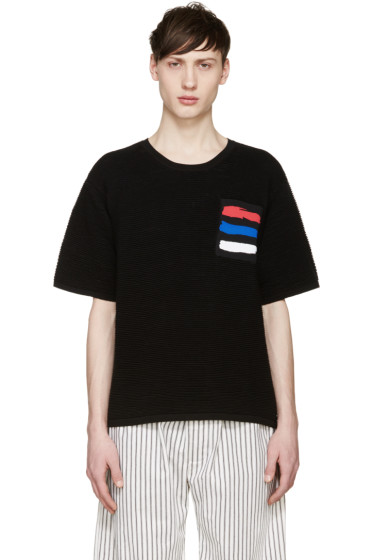 Opening Ceremony - Black Symphony Pocket Ribbed Sweater