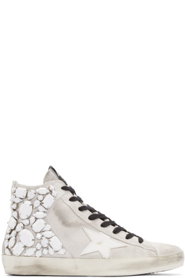 Golden Goose - White Suede Francy Sneakers
