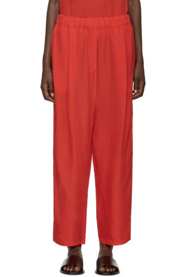 Damir Doma - Red Satin Lounge Pants