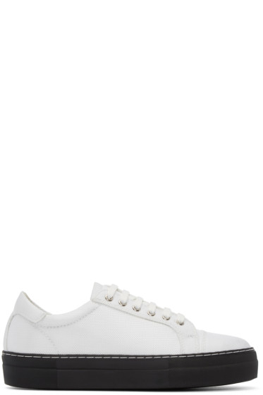 Comme des Garçons Shirt - White Nylon Sneakers