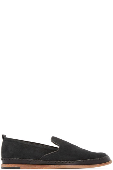H by Hudson - Black Macuco Suede Loafers