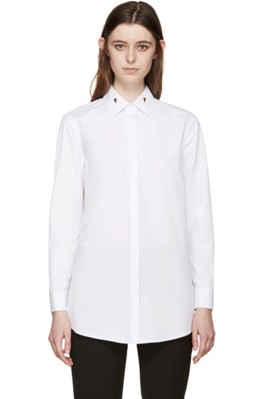 Givenchy - White Poplin Balena Shirt