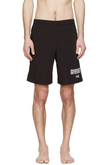 Givenchy - Black Logo Swim Shorts