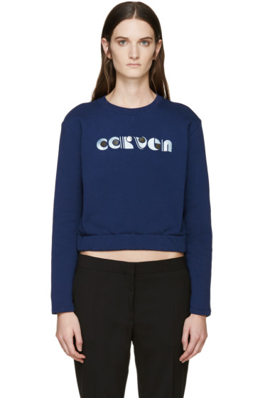 Carven - Navy Logo Pullover