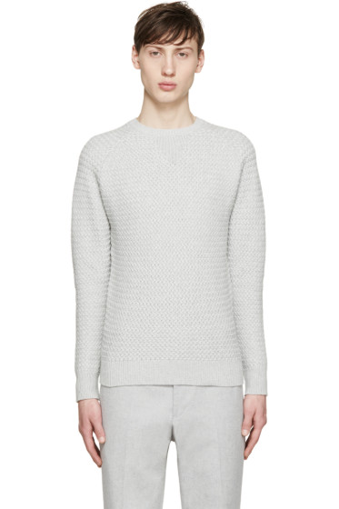 Carven - Grey Textured Knit Sweater