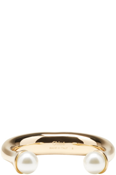 Chloé - Gold Pearl Round Bracelet