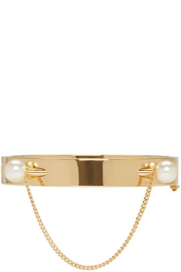 Chloé - Gold Twin Pearl Darcey Bracelet