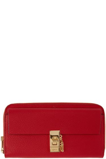 Chloé - Red Long Zippered Drew Wallet