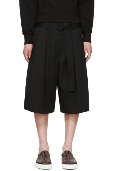 Juun.J - Black Belted Shorts
