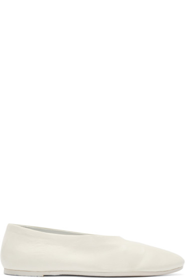 Marsèll - White Leather Mosso Flats