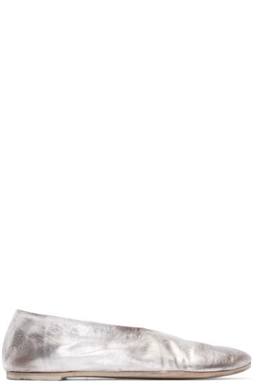 Marsèll - Silver Leather Cotellacci Ballerina Flats