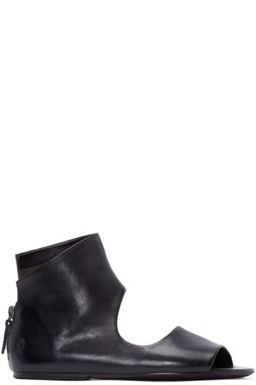 Marsèll - Black Cut-Out Sandals