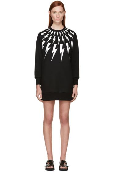 Neil Barrett - Black & White Thunderbolt Dress