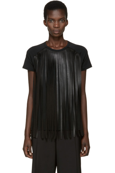 Neil Barrett - Black Fringed T-Shirt