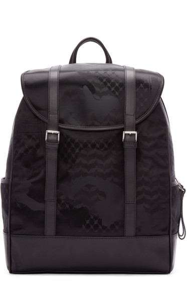 Neil Barrett - Black Camo Print Backpack