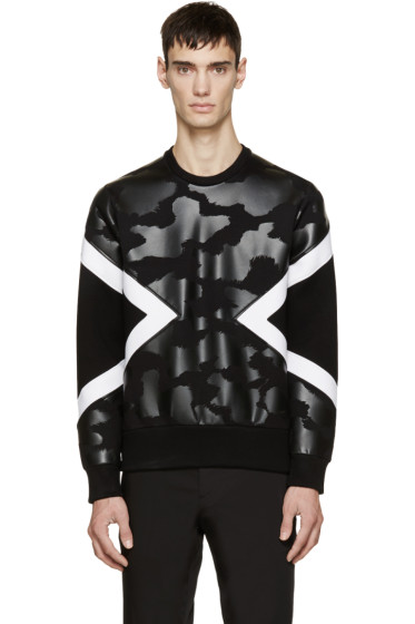 Neil Barrett - Black Neoprene Modernist Pullover