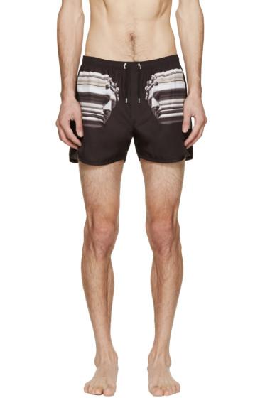 Neil Barrett - Black Nylon Roman Swim Shorts