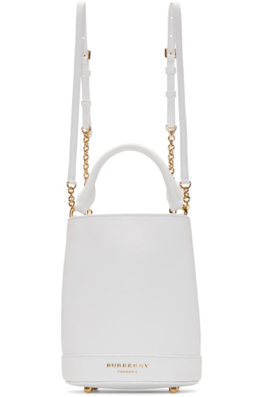 Burberry Prorsum - White Leather Small Bucket Bag