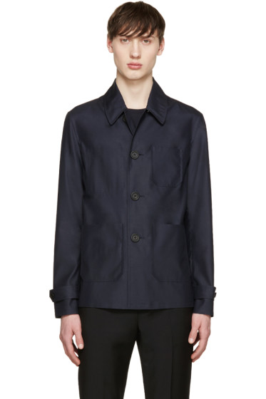 Burberry Prorsum - Navy Silk & Wool Jacket