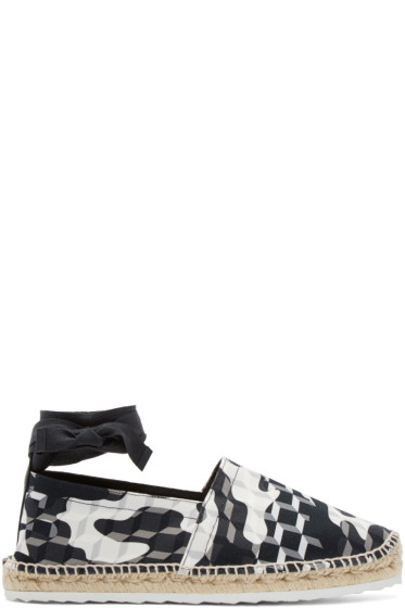 Pierre Hardy - Black & White Cube Espadrilles