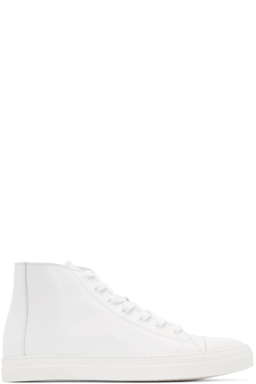Pierre Hardy - White Leather Frisco Sneakers
