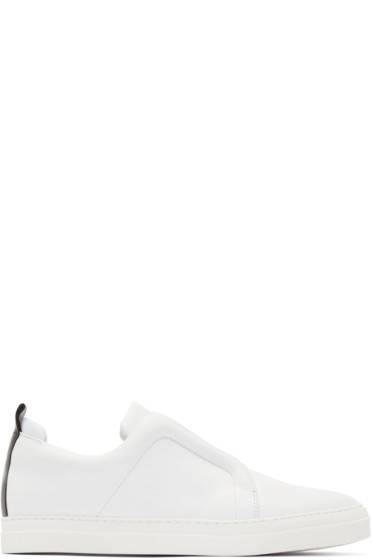 Pierre Hardy - White Leather Slider Sneakers