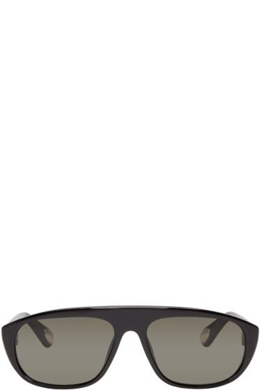 Ann Demeulemeester - Black Aviator Linda Farrow Edition Sunglasses